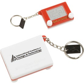 Imprinted Etch-a-Sketch Keychain