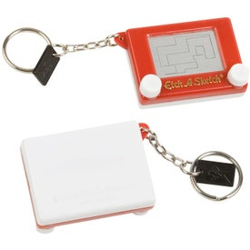 Etch-a-Sketch Keychain for Advertising