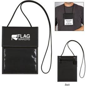 Executive Leatherette Neck Wallet Badge Holder