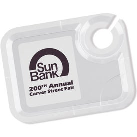 Extra-Hand Snack and Beverage Tray Imprinted with Your Logo