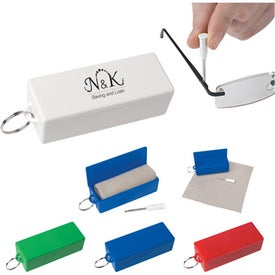 Eyeglass Tool With Cleaning Cloth for Your Organization