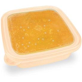 Imprinted EZ Freeze Square Food Storage Container