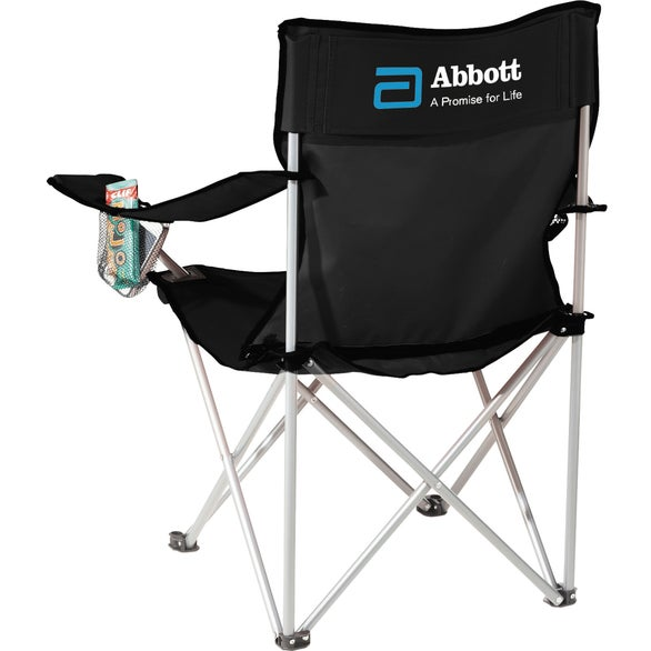Black Fanatic Event Folding Chair