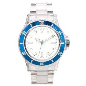 Monogrammed Fashion Styles Transparent Unisex Watch