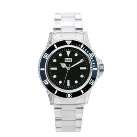 Logo Fashion Styles Transparent Unisex Watch