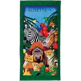 Customized Fiber Reactive Zoo Beach Towel
