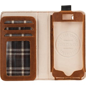 Field & Co. Book Case for iPhone 5 and 5S with Your Slogan