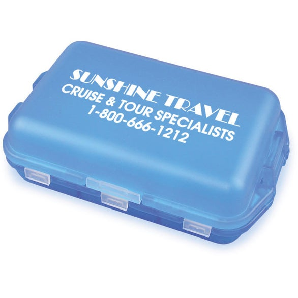 Translucent Blue Fill, Fold and Fly Medicine Box