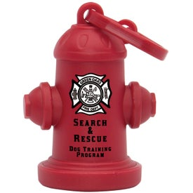 Monogrammed Fire Hydrant Pet Waste Bag Dispenser