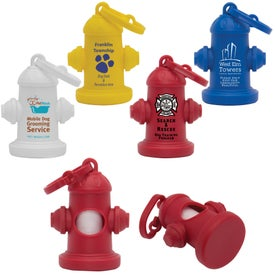 Logo Fire Hydrant Pet Waste Bag Dispenser