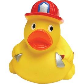 Personalized Fireman Rubber Duck
