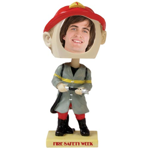 See Item Fireman Bobble Head