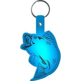 Printed Fish Key Tag