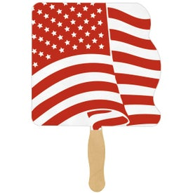 Flag Sandwiched Hand Fans (Ink Imprint)