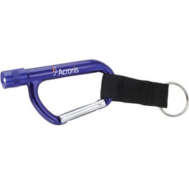 Flashlight Carabiner with Strap with Your Slogan