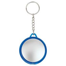 Plastic Flashlight Keychain for Customization