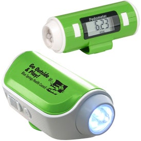 Logo Flashlight and Siren Pedometer