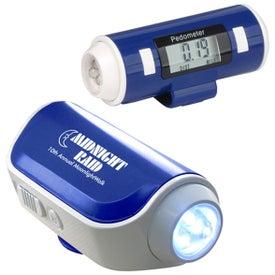 Flashlight and Siren Pedometer