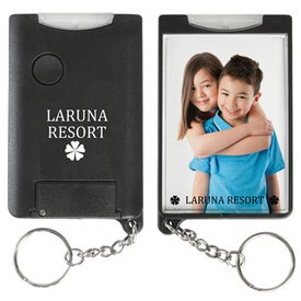 Personalized Flashlight Snap-In Photo Keytag