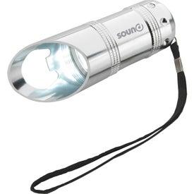 Customized Flashlight with Bottle Opener