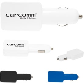 Flat Duo USB Car Adapter