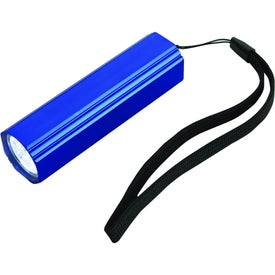 Flat Edge Flashlight Branded with Your Logo