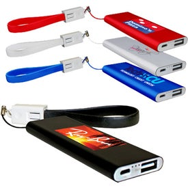 Flat Power Bank With Cable