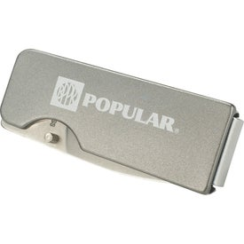 Flat Single Blade Knife Money Clip Imprinted with Your Logo