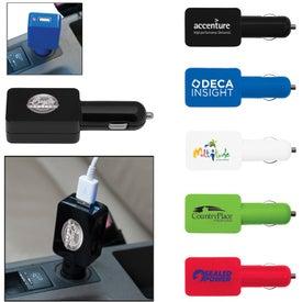 Advertising Flat USB Car Adapter