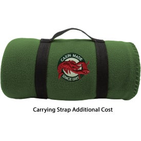 Embroidered Fleece Blanket Imprinted with Your Logo