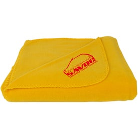 Fleece Throw Blankets with Your Slogan