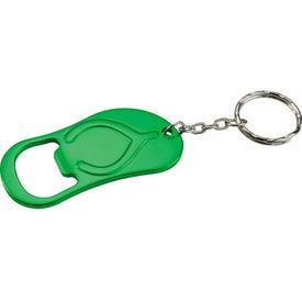 Monogrammed Flip Flop Bottle Opener