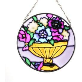 Branded Floral Suncatcher