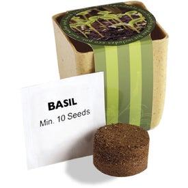 Logo Flower Pot Set with Basil Seeds