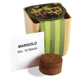 Flower Pot Set with Marigold Seeds for Promotion