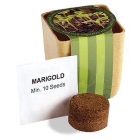 Flower Pot Set with Marigold Seeds for Promotion