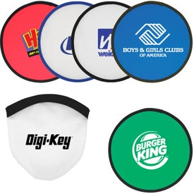 Compact Fold-Up Flying Disc with Your Slogan