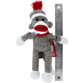 Flying Shrieking Classic Sock Monkey with Your Slogan