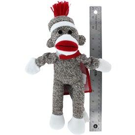 Flying Shrieking Classic Sock Monkey with Your Slogan