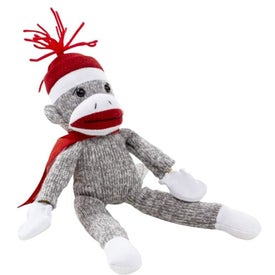 Flying Shrieking Classic Sock Monkey for Promotion