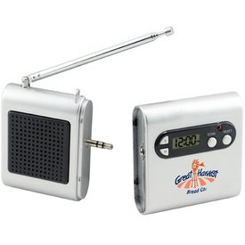 Advertising FM Scanner Radio And LCD Clock