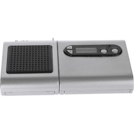 Imprinted FM Scanner Radio And LCD Clock