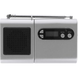 Monogrammed FM Scanner Radio And LCD Clock
