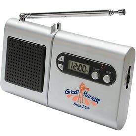 FM Scanner Radio And LCD Clock