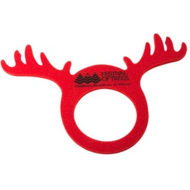 Personalized Foam Reindeer Visors