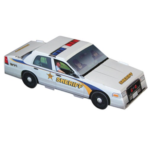 Foldable Die-Cut Sheriff Car