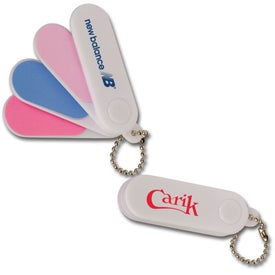 Folding Nail File Keychains