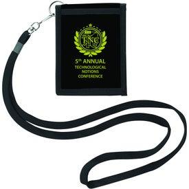 Personalized Folding Neck Wallet