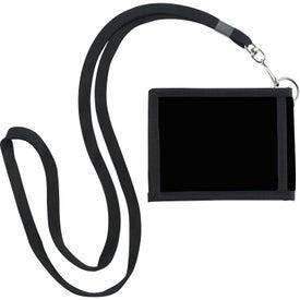 Logo Folding Neck Wallet