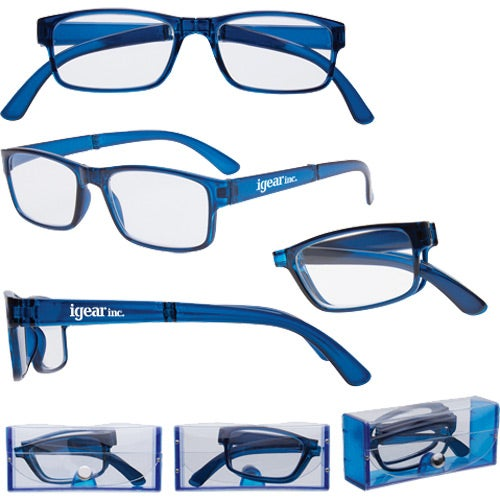 Blue Folding Reading Glasses